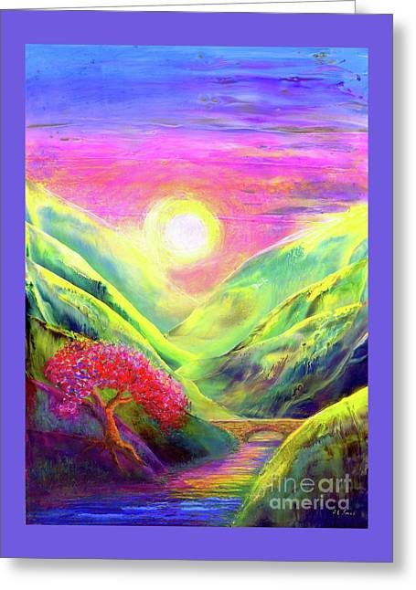 Healing Light Greeting Card by Jane Small