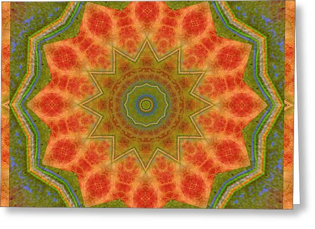 Healing Mandala 14 Greeting Card by Bell And Todd
