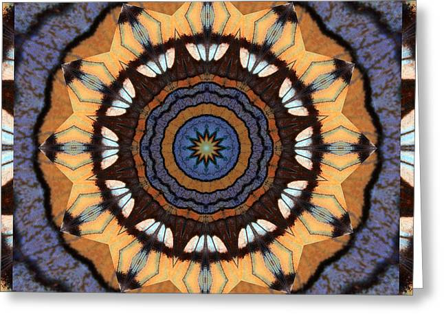Sacred Geometry Photographs Greeting Cards - Healing Mandala 16 Greeting Card by Bell And Todd
