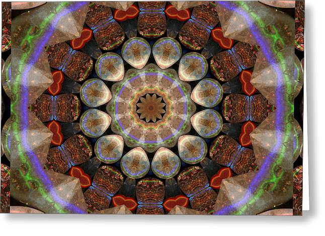 Shower Curtain Greeting Cards - Healing Mandala 30 Greeting Card by Bell And Todd