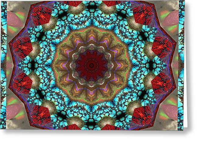 Meditative Greeting Cards - Healing Mandala 35 Greeting Card by Bell And Todd