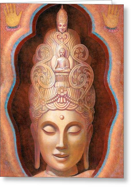 Healing Tara Greeting Card by Sue Halstenberg
