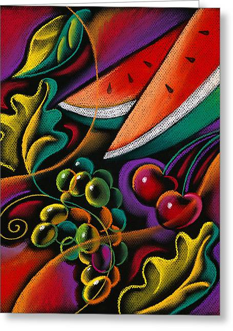 Health Greeting Cards - Healthy fruit Greeting Card by Leon Zernitsky