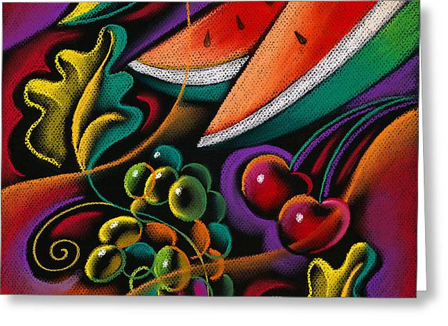 Healthy Fruit Greeting Card by Leon Zernitsky