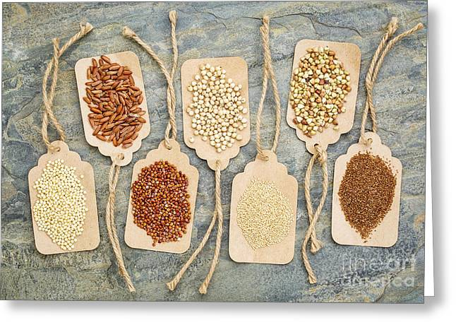 Gluten Free Greeting Cards - Healthy Gluten Free Grains Greeting Card by Marek Uliasz