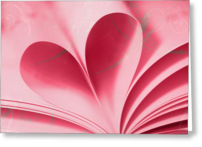 Pink Heart Greeting Cards - Heart A Flutter Greeting Card by Rebecca Cozart