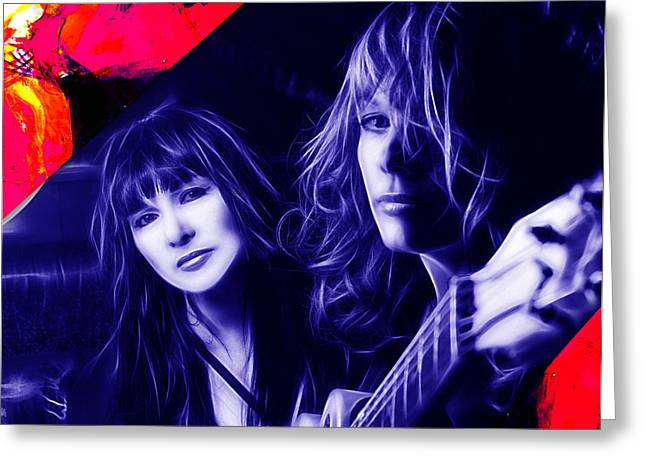 Heart Greeting Cards - Heart Ann and Nancy Wilson Collection Greeting Card by Marvin Blaine