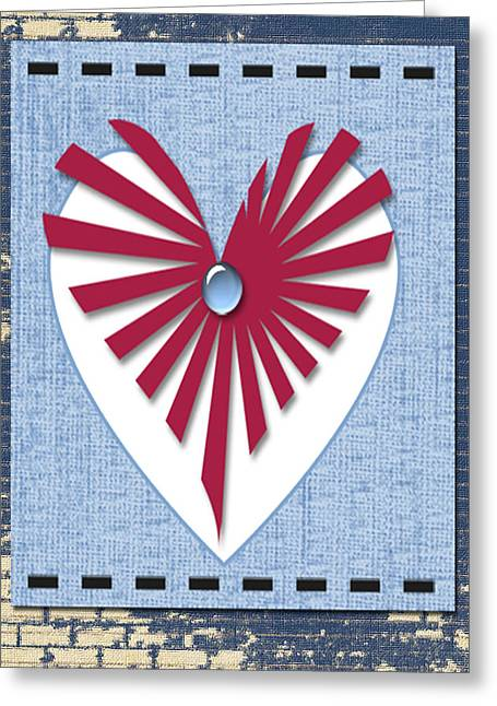Installation Art Greeting Cards - Heart Art Greeting Card by Tina M Wenger