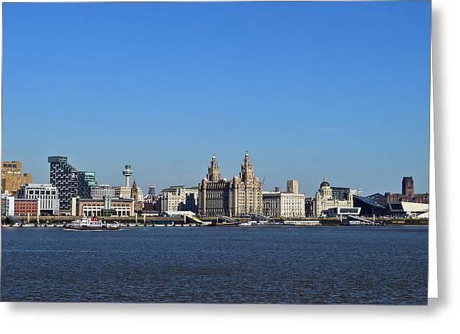 Heart As Big As Liverpool Greeting Card by Colin Perkins