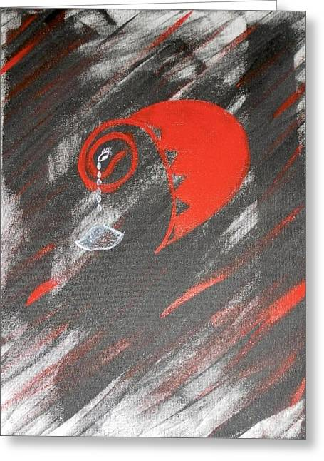 Tears Greeting Cards - Heart Broken Greeting Card by Janice Camilo