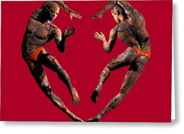 African-american Digital Greeting Cards - Heart Dance Greeting Card by Walter Oliver Neal