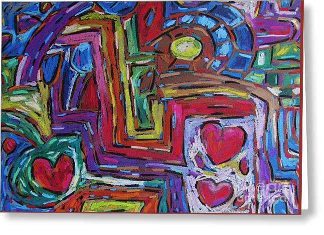 Treasures Pastels Greeting Cards - Heart Felt Treasure II Greeting Card by Dianne  Connolly