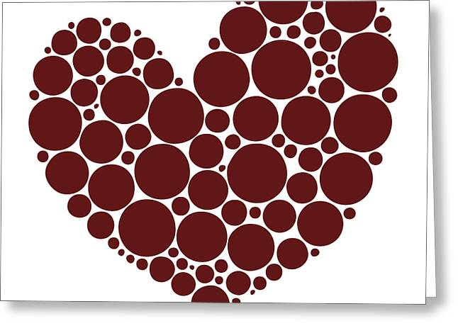 Red Abstracts Drawings Greeting Cards - Heart Greeting Card by Frank Tschakert