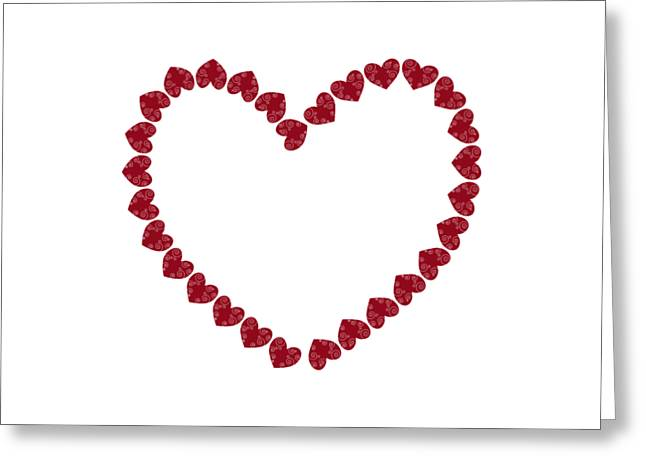 Heart From Red Hearts Greeting Card by Frank Tschakert