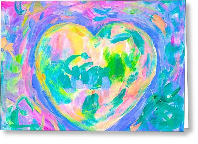 Heart Glow Again Greeting Card by Kendall Kessler