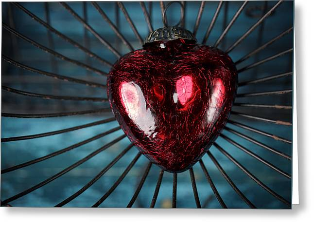 Heart In Cage Greeting Card by Nailia Schwarz