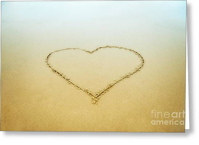 Luv Greeting Cards - Heart Greeting Card by John Greim