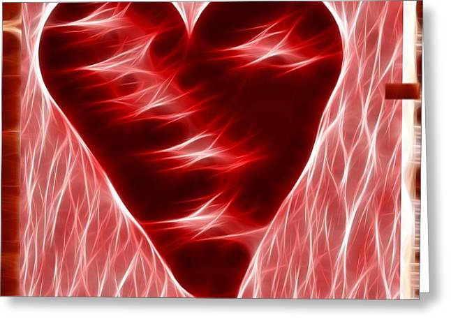 Award Digital Art Greeting Cards - Heart  Greeting Card by Kevin  Sherf