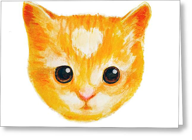 House Pet Greeting Cards - Heart Kitten Greeting Card by Ariel Sierra