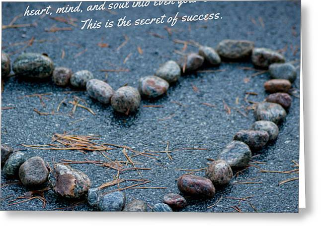 Souls Greeting Cards - Heart mind and soul Greeting Card by Mirra Photography