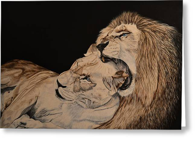 Lioness Greeting Cards - Heart of a Lion Greeting Card by Alta De Jager