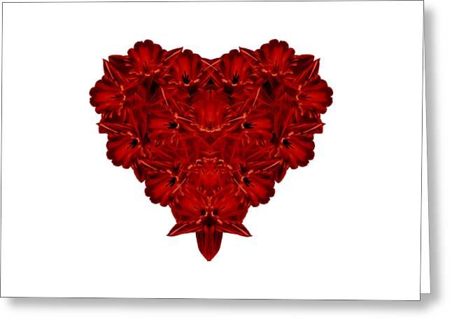 Heart Of Flowers T-shirt Greeting Card by Edward Fielding