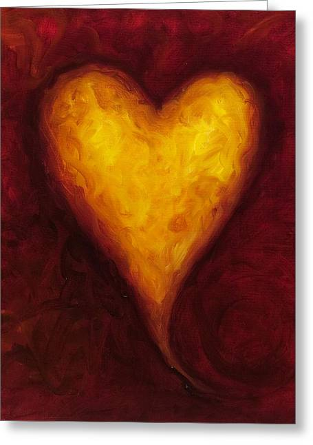 Hearts Greeting Cards - Heart of Gold 1 Greeting Card by Shannon Grissom