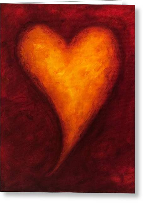 Heart Of Gold 2 Greeting Card by Shannon Grissom