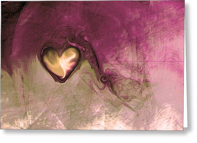 Heart Of Gold Greeting Card by Linda Sannuti