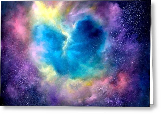 Universe Greeting Cards - Heart of the Universe Greeting Card by Sally Seago