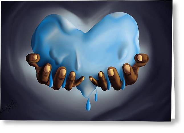 Heart Of Water Greeting Card by Kenal Louis