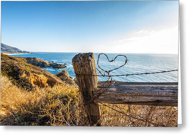 Barbed Wire Fences Greeting Cards - Heart of Wire Greeting Card by Joseph S Giacalone