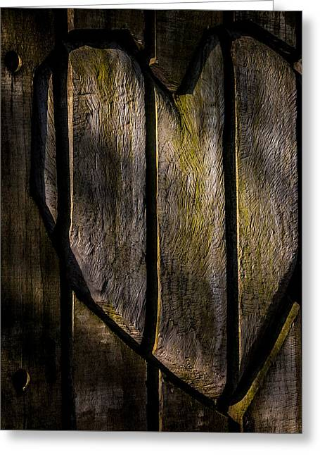 Light Of Heart Greeting Cards - Heart Of Wood Greeting Card by Odd Jeppesen