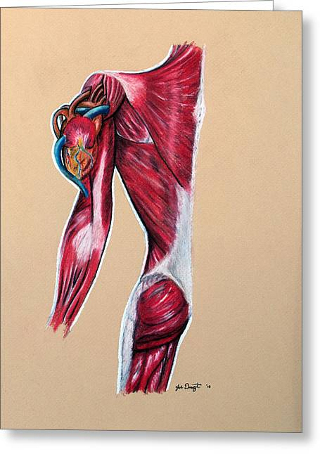 Medical Pastels Greeting Cards - Heart on Sleeve Greeting Card by Joe Dragt