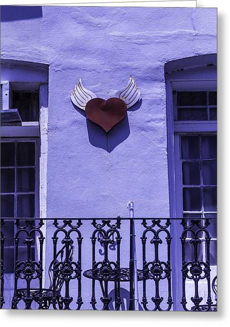 Heart On Wall Greeting Card by Garry Gay