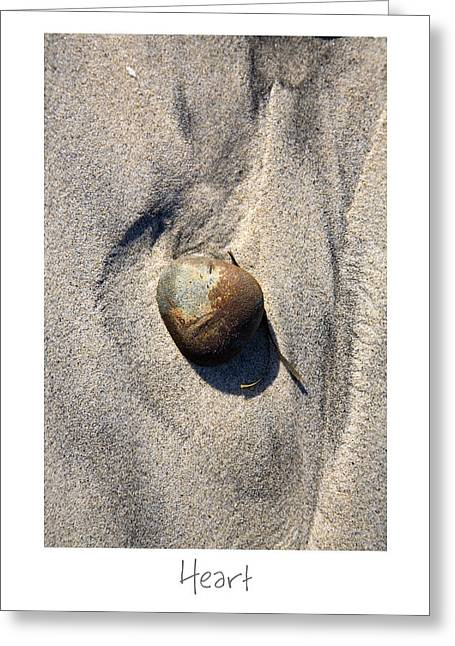 Sand Art Greeting Cards - Heart Greeting Card by Peter Tellone