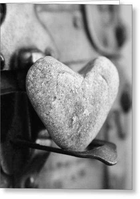 Heart Rocks Greeting Cards - Heart Rock love Greeting Card by Toni Hopper