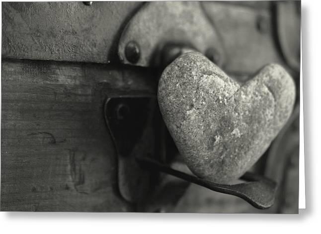 Heart Rocks Greeting Cards - Heart Rock Greeting Card by Toni Hopper