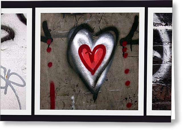 Graffitti Art Greeting Cards - heART Greeting Card by Russell Styles