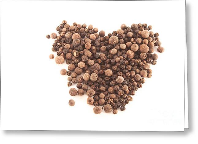 Component Greeting Cards - Heart shaped allspice Greeting Card by Daniel Ronneberg