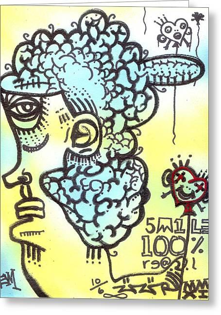 Heart Shaped Balloons Greeting Card by Robert Wolverton Jr