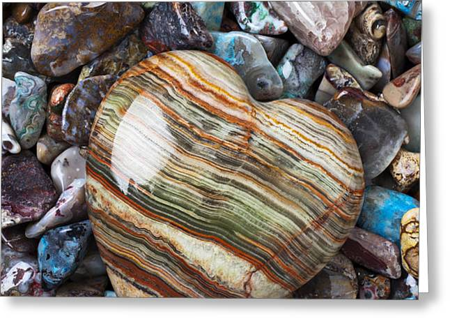 Heart Stone Greeting Card by Garry Gay