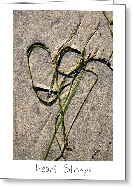 Sand Art Greeting Cards - Heart Strings Greeting Card by Peter Tellone