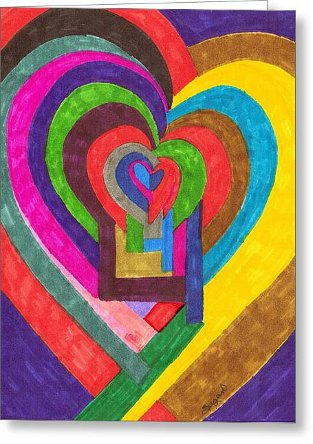 Heart Under Rennovation Greeting Card by Brenda Adams