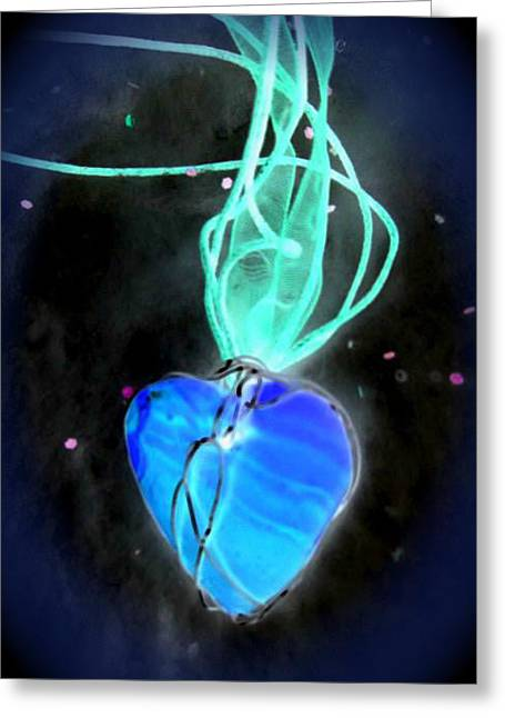 Heartbeat Mixed Media Greeting Cards - Heartbeat Greeting Card by Lubima Boukov