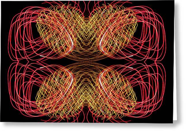 Disorganization Greeting Cards - Heartbeats Serenade Greeting Card by John Cardamone
