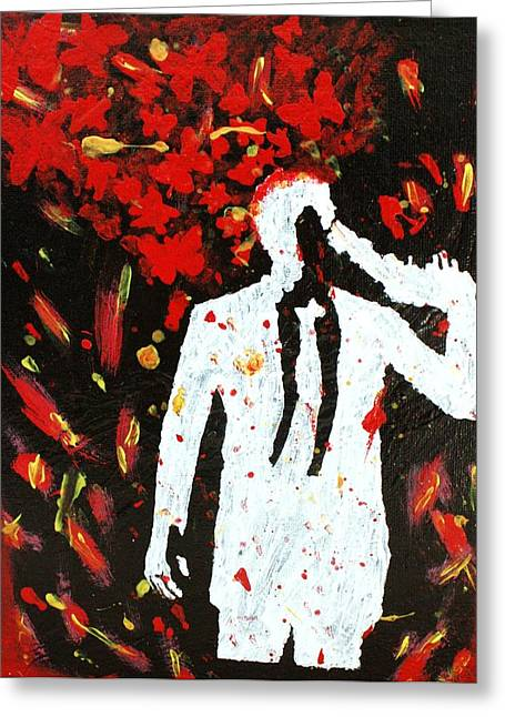 Heartbreak  Greeting Card by April Harker