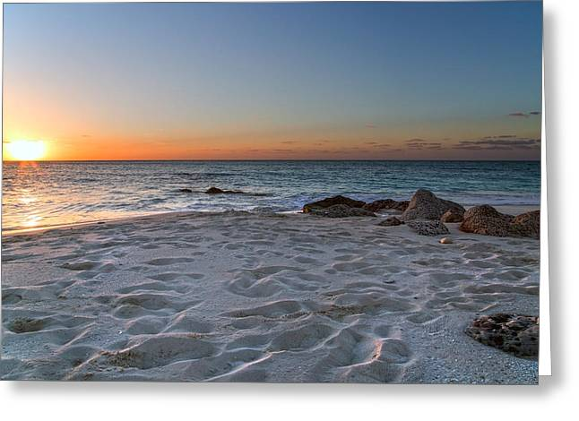 Carribean Greeting Cards - Heartbreak Sunset Greeting Card by Betsy C  Knapp