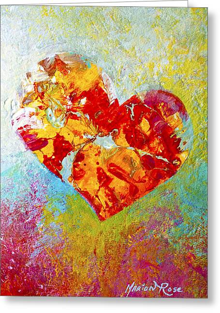 Americana Greeting Cards - Heartfelt I Greeting Card by Marion Rose