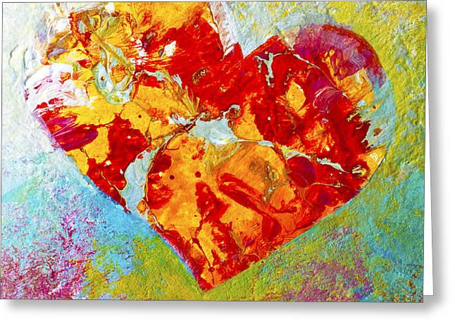 Heartfelt I Greeting Card by Marion Rose